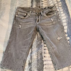 Miss Me gray cropped jeans JP5014-CR-5 SIZE  31